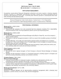 fast food manager resume resume restaurant experience resume