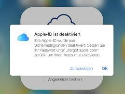 apple id vergessen iphone gesperrt