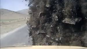 mrap flips after ied blast in