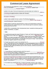 Agreement Form Doc Magnificent Commercial Rental Lease Agreement Template Doc Sample Building Free
