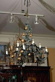 antique tole chandelier vintage tole chandelier with gilt fruit an resource for fine antiques we have a vintage italian tole chandeliers