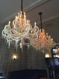 ace hotel new orleans unique drip wax chandeliers