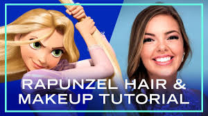 rapunzel hair and makeup tutorial for prom disney style