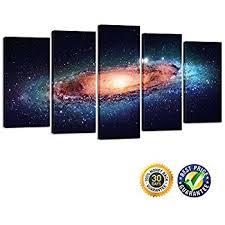 Creative Art- Modern Giclee Canvas Print Artwork Universe 5 Panels Splendid  Planetary Nebula Space Picture