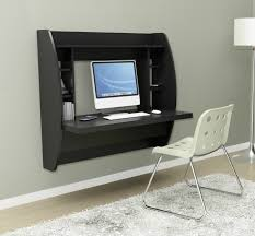 homcom floating wall mount office computer desk. Hanging Wall Desk Floating Mounted Computer Black Office Writing Table Homcom Mount N