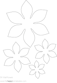 Paper Flower Printables Template Net Template For 3d Shapes Paper Flower Templates