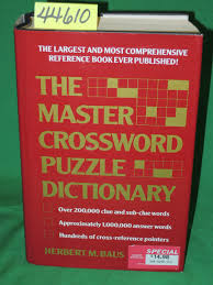 The Master Crossword Puzzle Dictionary The