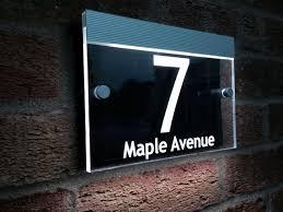 Decorating apartment door numbers pictures : House Number Signs Ideas In Ritzy Apartment Door Signs Illuminated ...