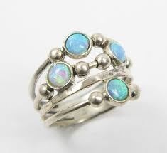 opal ring spheres sterling silver ring birthday gift gift ideas opal jewelry sterling silver ring