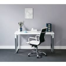chrome office desk. Contour Loop Leg Desk White And Chrome Office L