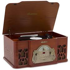 electrohome wellington record player retro vinyl turntable stereo system