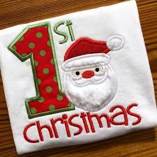 First Christmas Applique Design Santa Applique Design First Christmas Applique Design Christmas Embroidery Design