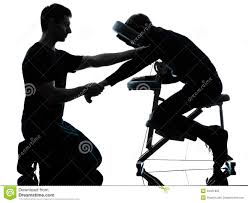 back of beach chair silhouette. Hands Arms Massage Therapy With Chair Back Of Beach Silhouette T