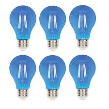 Blue Led Light Fixture Westinghouse 40 Watt Equivalent A19 Dimmable Blue Filament