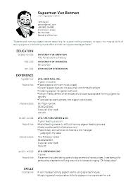 Resume Formats For Experienced Free Download Resume Free Format ...