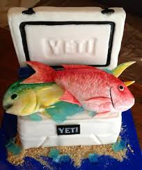 Fish In A Yeti Cooler Grooms Cake Grooms Cakes Wedding Cakes