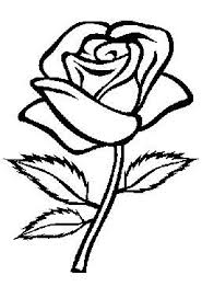 Kleurplaten Bloemen Roos Google Zoeken Drawing Rose Coloring