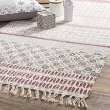 maisons du monde atsina cotton rug 80 x 200 cm