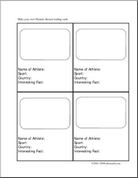 how to make your own trading cards writing prompt make your own olympic trading cards elementary
