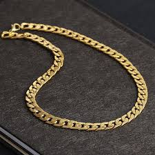 2019 never fade luxuriesfigaro chain necklace men hip hop jewelry 18k real yellow gold plated 9mm cuba link chain necklaces for women mens from att009