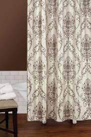 cream and black shower curtain. capello natural tan cream brown damask shower curtain new scroll and black