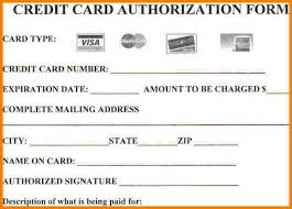 credit card authorization form card authorization  8 credit card authorization form