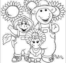 Small Picture Barney And Family Is A Farm Colouring Pages Cartoon Download
