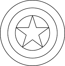 Diy Captain America Shield Free Printable Coloring Page Catgames Co