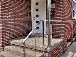 stainless steel porch rail with cable