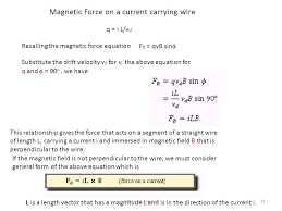magnetic force on a cur carrying wire