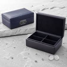 personalised leather cufflinks personalised leather and sterling silver cufflink box