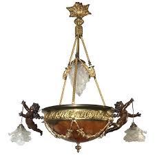 rare mid century chandelier with alabaster sculptures fascinating nz mid century chandelier