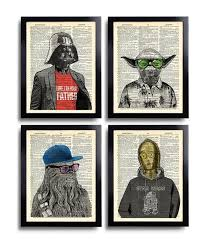 star wars wall art set of 4