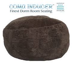 the coma inducer memory foam bean bag walnut soft dorm seating college supplies beanbags sphere chairs furniture dorm