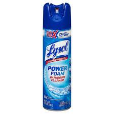 lysol power foam bathroom cleaner