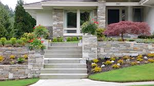Small Picture Stone decor exterior contemporary with front steps flower beds