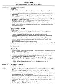 Editor Resume Sample Content Editor Resume Samples Velvet Jobs 12