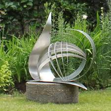 ... Full size of Stainless steel garden art sculpture round concrete  ornamental steel statue stand decorative metal