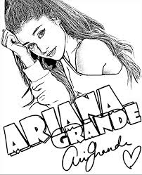 Small Picture Ariana Grande coloring page sheet book to print singer