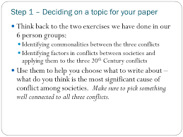 planning part i today you will create an outline for your essay  step 1 deciding on a topic for your paper