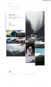 Tumblr Photography Themes Exp Minimalist Portfolio Tumblr Theme