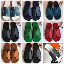 Hermes man <b>slippers</b> casual slides <b>high quality</b> version in 2019 ...