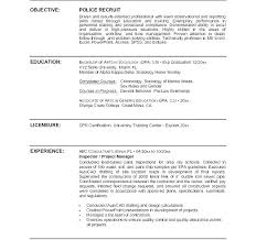 Police Officer Resume Classy Police Chief Resume Objective Examples Sample Officer Law