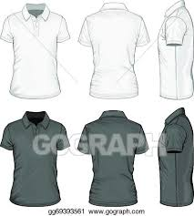 Short Templates Vector Clipart Mens Short Sleeve Polo Shirt Design Templates