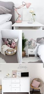 Grey, white & blush bedroom