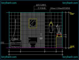 ada bathroom cad block ownself