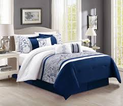 blue and white comforter ideas