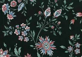Paisley Floral Vintage Wallpaper Black ...