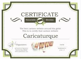Honorable Mention Certificate Caricaturque Honorable Mention Certificate 2017 Received