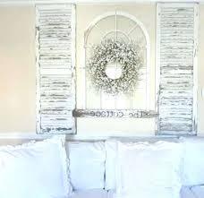 nice shutter wall decor minimalist rustic shutters interior decoration ideas panel door style arched beach
